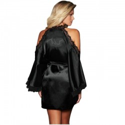 QUEEN LINGERIE ROBE NEGRO...