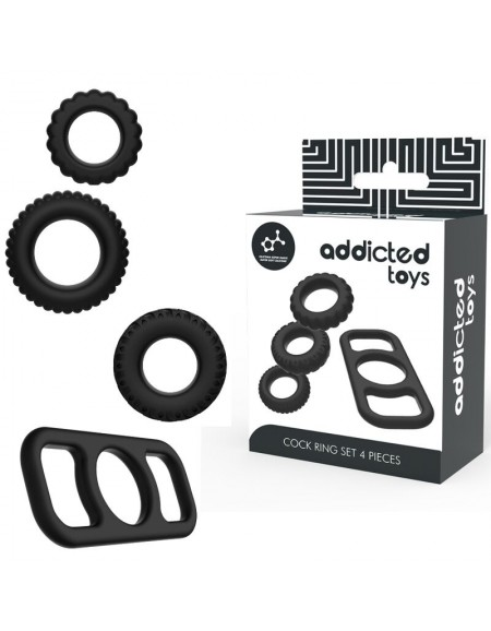 ADDICTED TOYS SET 4 ANILLOS...
